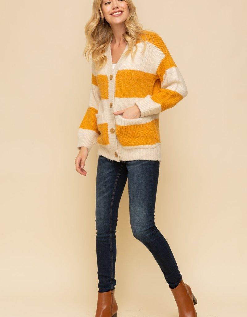 Hem & Thread Striped Cardigan