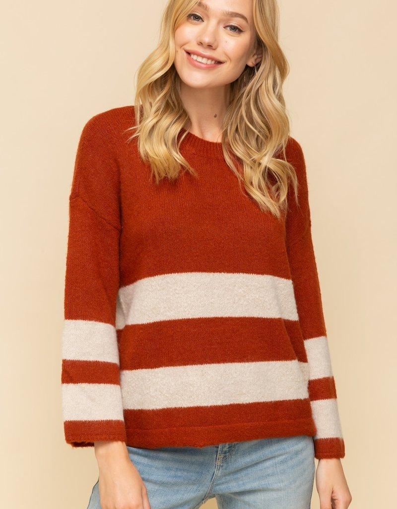 Hem & Thread Wide Stripe Sweater