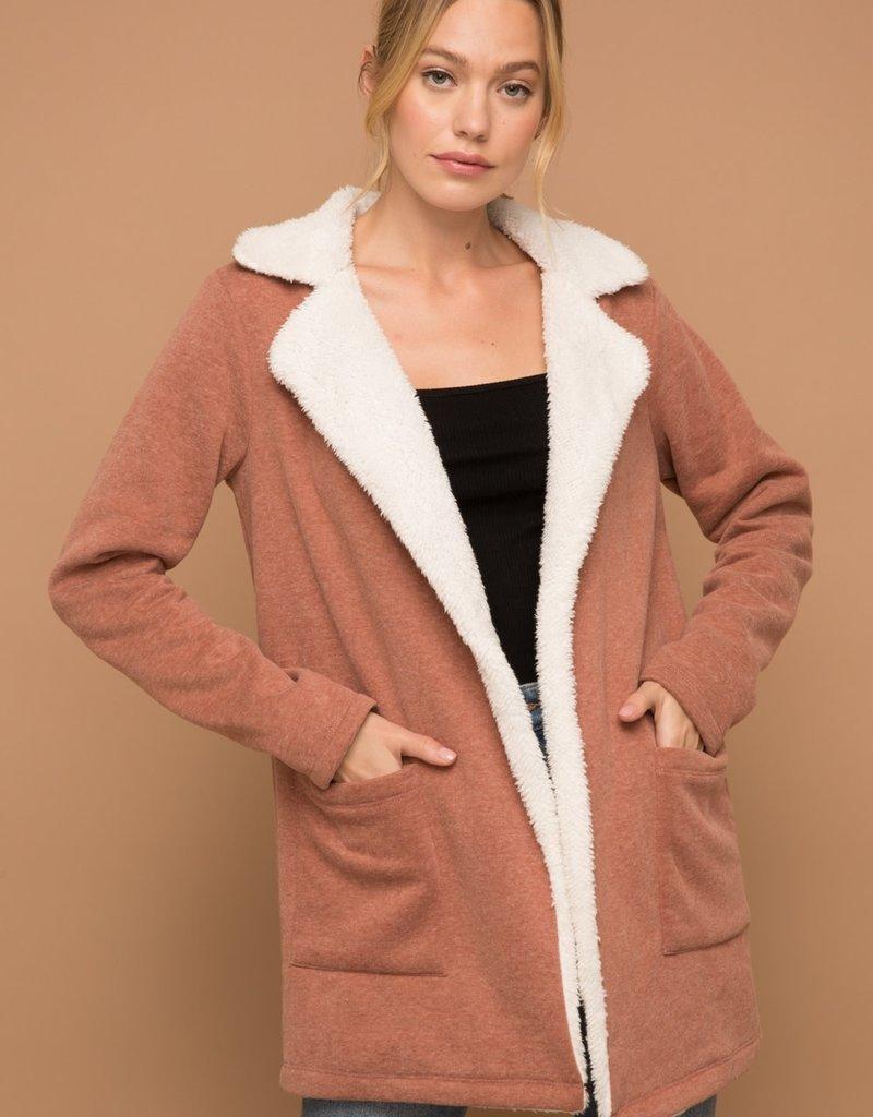 Hem & Thread Sweatshirt Jacket