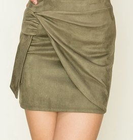 HYFVE Wrapped Suedette Skirt