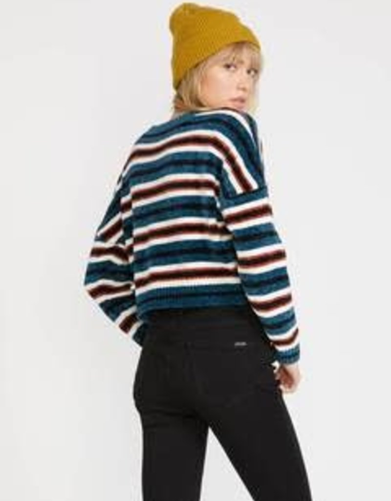 Volcom Stripe Chenille Crop Sweater