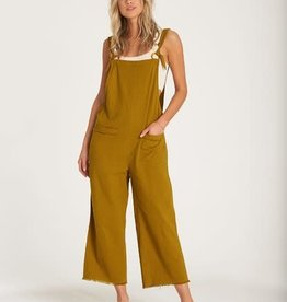 Billabong Frayed Linen Jumpsuit
