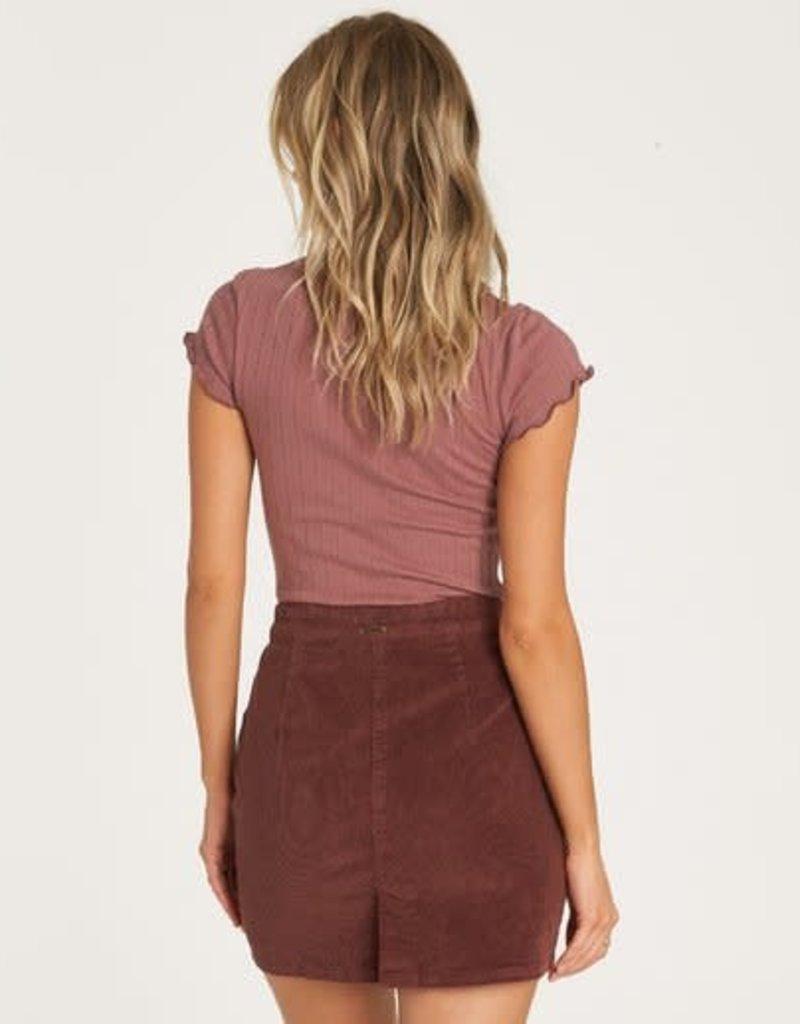 Billabong Patch Pocket Cord Skirt