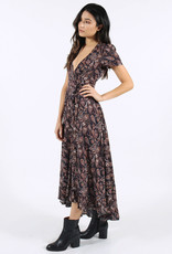 Lira Paisley Wrap Dress