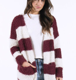 Lira Wide Stripe Cardigan