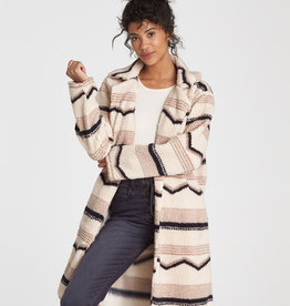 Billabong Striped Sherpa Coat