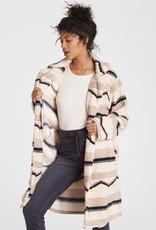 Billabong Striped Sherpa Coat