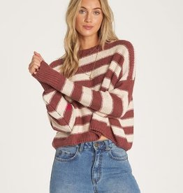 Billabong Cropped Stripe Sweater