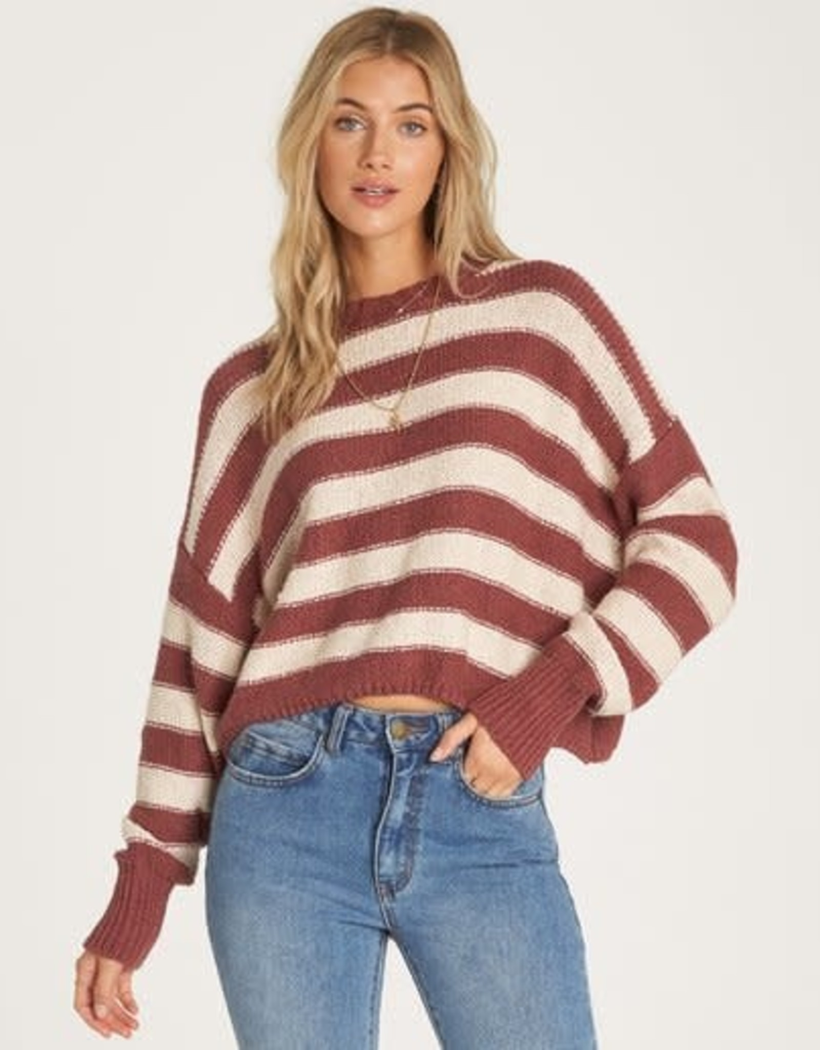 Billabong Cropped Stripe Sweater