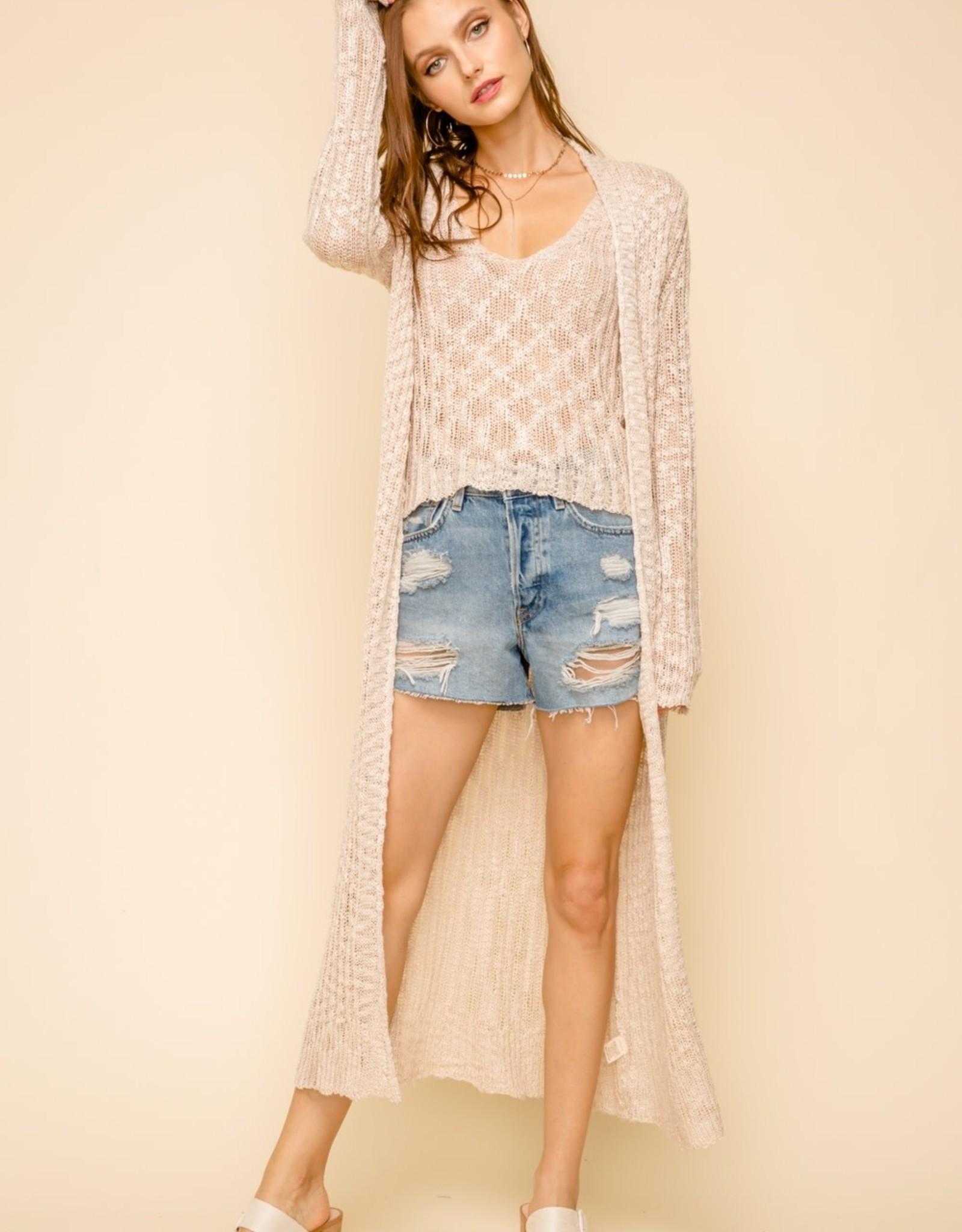 Hem & Thread Long Knit Cardigan