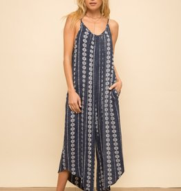 Hem & Thread Printed Wide Leg Jumpsuit