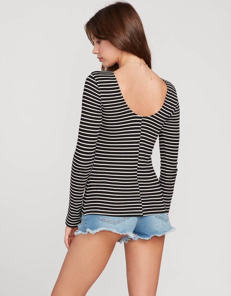 Volcom Long Sleeve Stripe Top