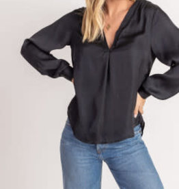 Lush Silky V-Neck Top