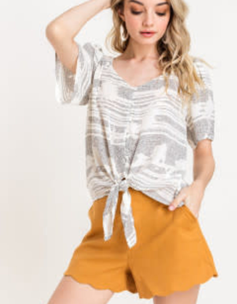 Lush Knotted Flutter Top