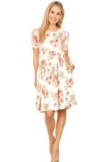 Chris & Carol Floral Pocket Dress