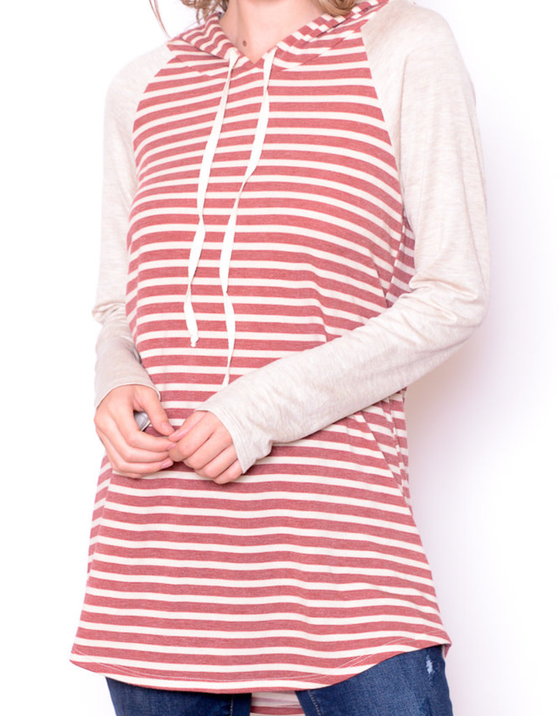 Chris & Carol Striped Raglan Hoodie