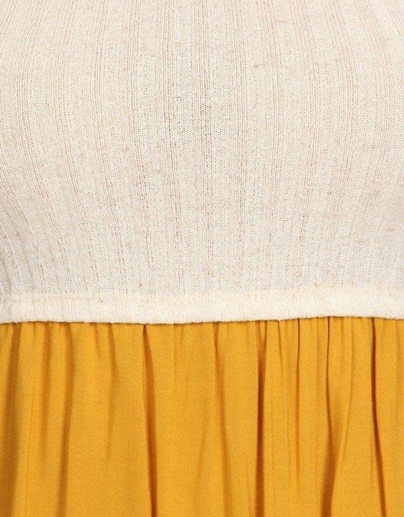 Ginger G Contrast Midi Dress