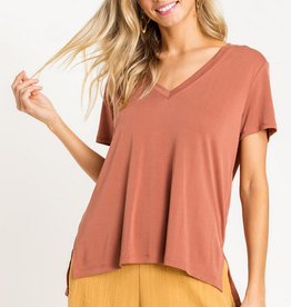 Lush Relaxed V-Neck Tee