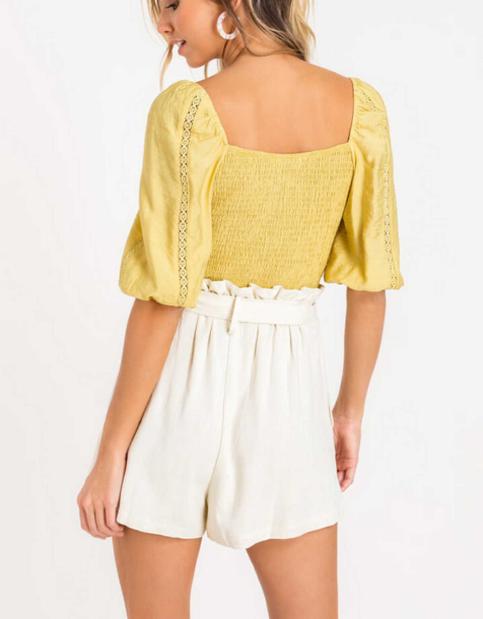 Lush Lace Button Crop Top