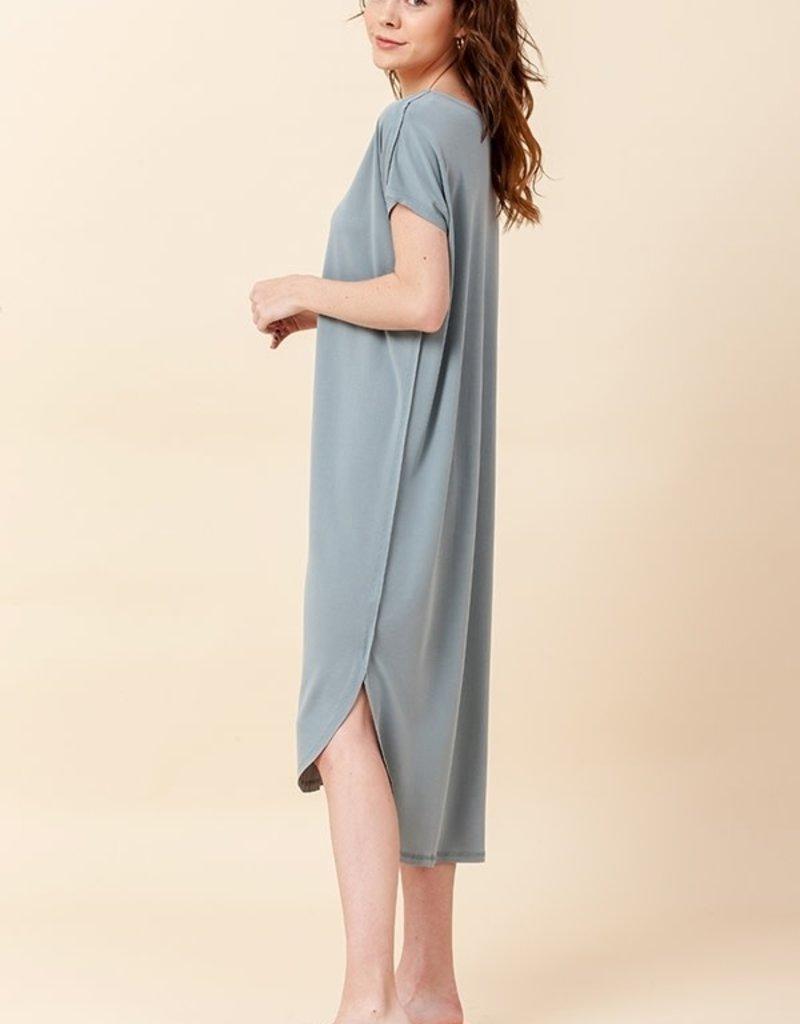 HYFVE Raw Edge T-Shirt Dress