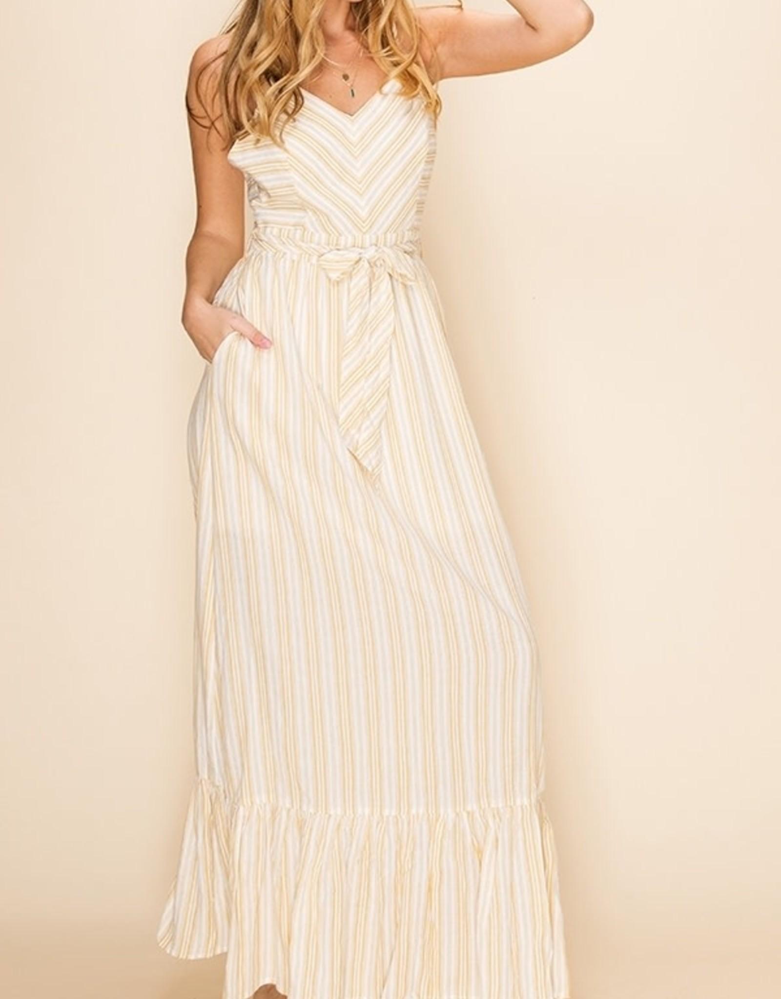 HYFVE Striped Maxi Dress