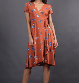 Final Touch Floral Wrap Dress
