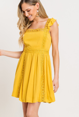 Lush Lace Trim Dress