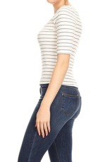 Ginger G Fitted Striped Top