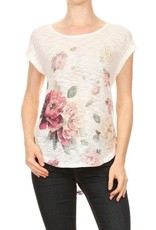 Ginger G Knit Floral Tee
