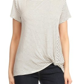 Ginger G Striped Tuck Tee