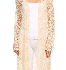 Ginger G Long Lace Kimono