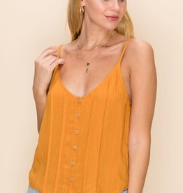 HYFVE Pleated Button Cami