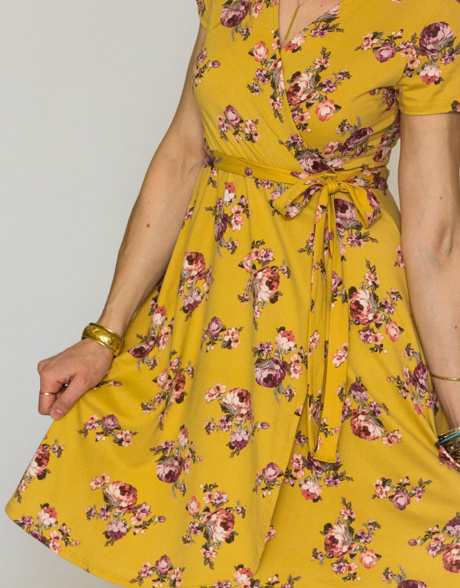 Chris & Carol Spring Blossom Wrap Dress