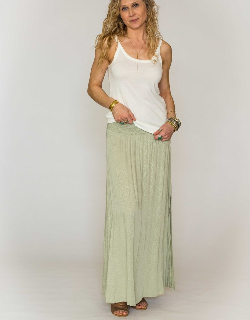 Final Touch Smocked Maxi Skirt