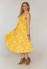 Lush Print Midi Dress