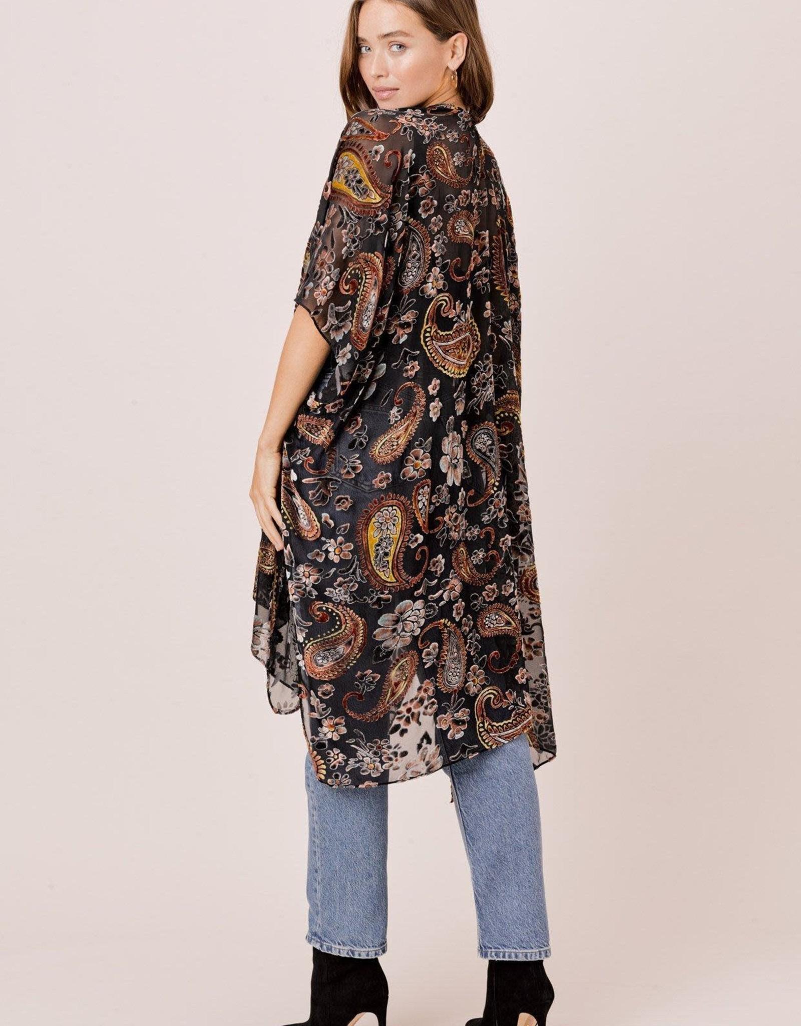 Lovestitch Velvet Burnout Kimono