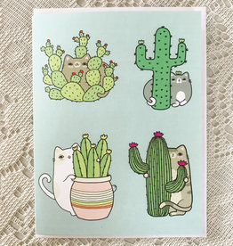 Art by Ciara Cactus Cats Card