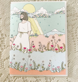 Art by Ciara Rain & Flowers Card