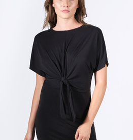 Lira Knotted T-Shirt Dress