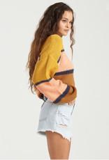 Billabong Bold Stripe Crop Sweater