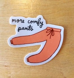 Abbie Ren More Comfy Pants Sticker