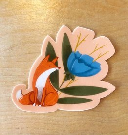 Abbie Ren Fox & Flower Sticker