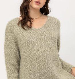 Love Tree Popcorn Eyelash Sweater