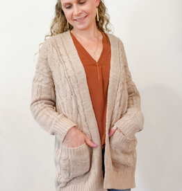 Wild Heart Cable Knit Cardi