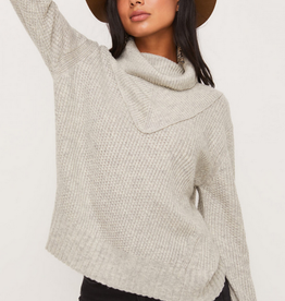 Lush Chevron Turtleneck Sweater