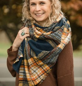 Joia Plaid Blanket Scarf