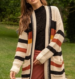 Hem & Thread Color Block Cardi
