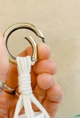 Fringe Macrame Hand Sanitizer Keychain