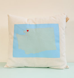 CW Happy Creations Heart In Bellingham Pillow