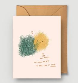 Abbie Ren We're All Messes Greeting Card